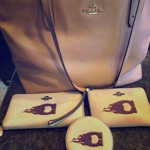 Original Coach women's bag, 2 wallets, clutch,